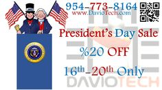 President's day sale %20 off 16th-20th only!