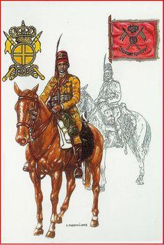 Regio Esercito - PENNA DI FALCO DEL III GRUPPO SQUADRONI CAVALLERIA COLONIALE- AFRICA ORIENTALE ITALIANA 1940-1941.