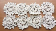 8 Dimensional Flower Rosette Crochet Doilies