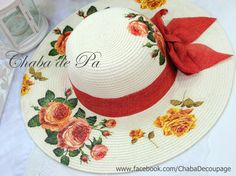 Spring Hats, Summer Hats, Painted Hats, Hand Painted, Crafts To Sell, Diy And Crafts, Mix Match Outfits, Caps Hats, Hats For Women