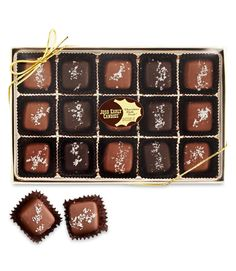 Who wouldn't melt over these made-to-order milk- and dark-chocolate caramels topped with a sprinkling of French sea salt? $17, joshearlycandies.com  - GoodHousekeeping.com