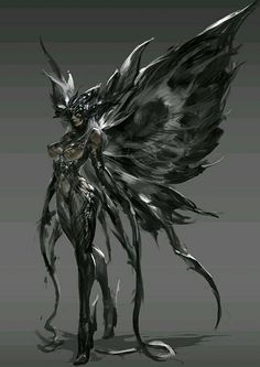 by gu junyi on ArtStation. Dark Fantasy Art, Fantasy Girl, Fantasy Artwork, Dark Art, Fantasy Character Design, Character Design Inspiration, Character Art, Fantasy Creatures, Mythical Creatures
