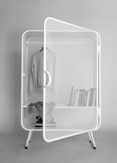 Harold is a minimalist design created by Netherlands-based designer Jesse Visser. A expanded metal cabinet that can be used as wardrobe as well as storage for offices. Furniture Inspiration, Design Inspiration, Cool Furniture, Furniture Design, Furniture Ideas, Furniture Online, Furniture Outlet, Trendy Furniture, Discount Furniture