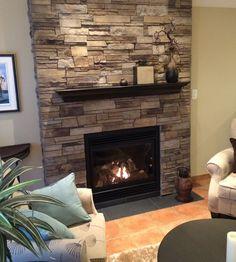 Fireplace: Plum Creek, LEDGESTONE - Versetta Stone® Brand_Stone Siding