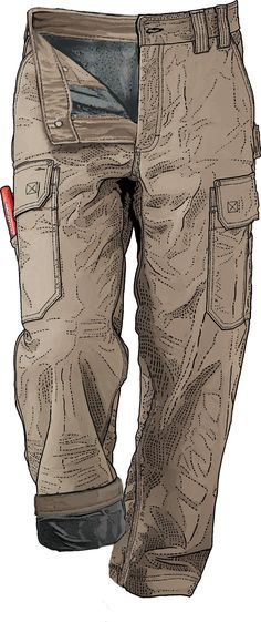 Winterize your work pants! Fleece-lined DuluthFlex Fire Hose Work Pants have the bendability to crouch and lunge unrestricted. From Duluth Trading Company.