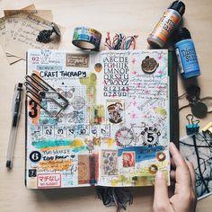 ART JOURNALING — via ramblingrose.typepad.com