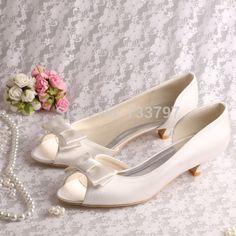 Encontrar Más Bombas Información acerca de ( 15 colores ) Custom hechos a mano mujeres novia zapatos zapatos de vestir con tacones bajos Bowtie envío gratis, alta calidad Bombas de Shenzhen Magic Shoes Co.,Ltd. en Aliexpress.com