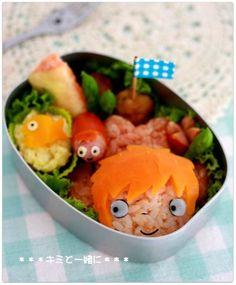 Ponyo bento. studio ghibli food #StudioGhibli #HayaoMiyazaki @HayaoMiyazaki @StudioGhibli #bento