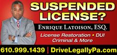 Free consultation for all your legal needs - including speeding tickets, DUI, license restoration, and all traffic citations in PA.