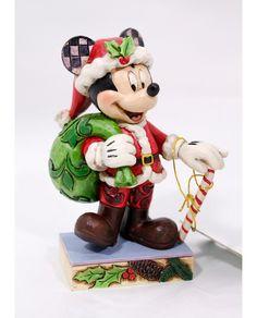 figura de Mickey vestido de Papa Noel