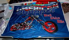 American Chopper Fabric Panels for Quilting Harley Davidson Crafting Sewing Harley Décor Wall Hangin Harley Davidson Posters, Harley Davidson Quotes, Harley Davidson Wallpaper, Harley Davidson Iron 883, Classic Harley Davidson, Vintage Harley Davidson, Harley Davidson Motorcycles, Fabric Panel Quilts, Fabric Panels