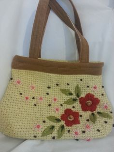 Handmade Handbag. Embroidered bag by Floristo4ka on Etsy