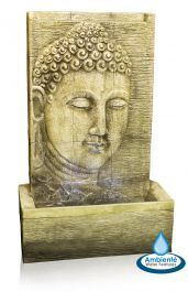 Nirvana Buddha Falls Water Feature with Lights by Ambienté Nirvana, Cascade Water, Calming Sounds, Backyard Water Feature, Primroses, Water Features In The Garden, Garden Fountains, Buddhist Art, Luz Led