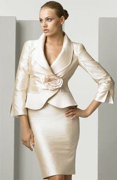 Armani Collezioni Silk Shantung Skirt Suit available at #Nordstrom
