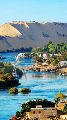 The Nile River~ Aswan, Egypt. Bob went on a Nile River cruise. Places Around The World, Travel Around The World, Around The Worlds, Places To Travel, Places To See, Travel Destinations, Dream Vacations, Vacation Spots, Wonderful Places