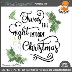 -Twas The Night Before Christmas. Sold By Digitail DesignsSmall business commercial useAvailable in SVG, DXF, EPS and Ai formats.Works in Cricut Designs space andSilhouette Studio Basic,Silhouette Designer Edition andSilhouette Business Edition Christmas Svg, Christmas Quotes, Lettering Design, Hand Lettering, Scrapbook Cards, Scrapbooking, Twas The Night, The Night Before Christmas, Scrapbooks
