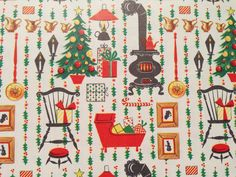 Vintage Gift Wrapping Paper  Country Home by TheGOOSEandTheHOUND, $6.00