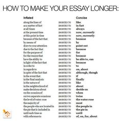 How To Make You Essays Longer