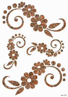 Flower stencils to use for applique. Stencil Patterns, Stencil Designs, Embroidery Patterns, Hand Embroidery, Motifs Islamiques, Rangoli Designs, Fabric Painting, Swirls, Flower Designs