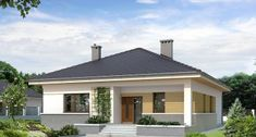 Projekt domu As 2 Modern Bungalow House, Bungalow House Plans, Gazebo, Villa, Outdoor Structures, Outdoor Decor, Home Decor, Nice Houses, Bonito