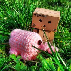 Danbo kann es kaum fassen,dem @haekelschwein hängt das Glück am Hintern.