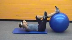 stability ball workout - YouTube
