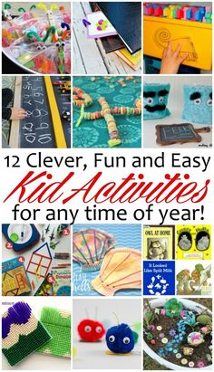 Clever kid activities. Easy DIY crafts and kid projects perfect for summer fun and rainy days.
