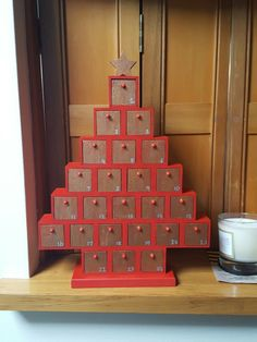 I made this advent calender wood tree for Christmas this year