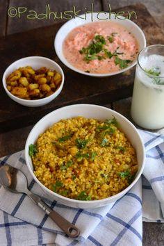 Bulgur Khichdi Recipe-Bulgur Recipes-Healthy Lunch Menu Ideas with Bulgur