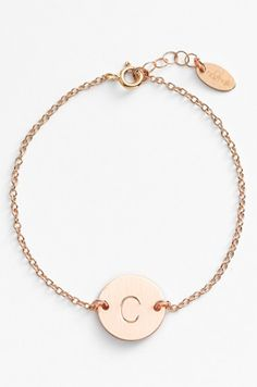 sweet initial bracelet for the graduate