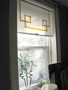 DIY Window Shade Made of Old Blinds