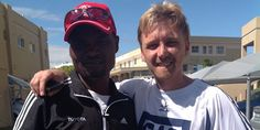 Interview with Stephen Muzhingi, here with manager Craig Fry, Stephen is proudly running Comrades Marathon 2013 in ToyotaSA Athletics Club Colors, sponsored by Adidas and South Africa's largest financial corp FedGroup Calf Injury, Marathons, Race Day, Athletics, Work Hard, South Africa, Interview, Adidas, Club