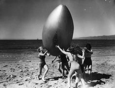 Beach Football 1930's Santa Monica Beach