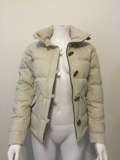 NWT Patagonia Slim Fit Toggle Down Coat Jacket Cream buy it now!!  Size XS - wTo #Patagonia #BasicCoat