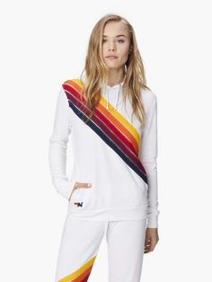 Mother Denim, White Hoodie, Denim Fashion, Girly Things, Pullover, Hoodies, Coat, Sweaters, Logo Ideas