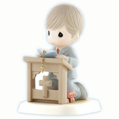 """Precious Moments First Communion Figurines """"Blessed Be The Bread of Life"""" Precious Moments Wedding, Precious Moments Quotes, Precious Moments Figurines, First Communion Party, First Holy Communion, Fondant Figures, Collectible Figurines, My Precious, Cold Porcelain"""