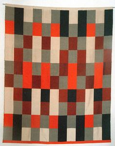 Gunta Stolzl, Wall hanging  in double-weave technique  1964  155x120 cm  Private collection