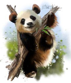Giant Panda On Tree Watercolor Painting Stock Illustration 711483064 Tree Watercolor Painting, Watercolour, Panda Art, Panda Love, Graphic Design Art, Animal Drawings, Pet Portraits, Baby Animals, Deviantart