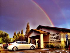 Jehovah's Beautiful Rainbow right by his Kingdom Hall ❤️