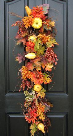 Pumpkin Season - not a wreath, but so pretty for the door.