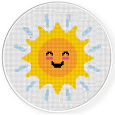 Charts Club Members Only: Happy Sun Cross Stitch Pattern