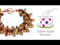 Golden Ripple Bracelets | Take a Make Break with Sarah