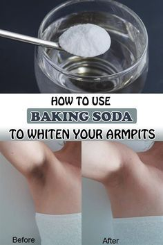 How to use baking soda to whiten your armpits