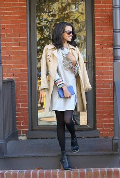 Preppy look | Casual fashion | How to Style a Trench Coat