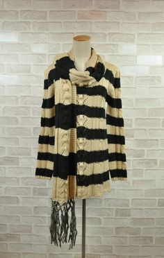 2012 autumn and winter the hippocampus wool stripe sweater scarf set - 20693 on AliExpress.com. 5% off $32.61