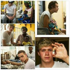 One Direction in Ghana, Africa. They all look like they've been crying<3