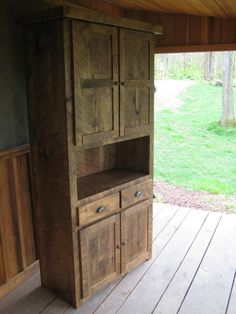 items similar to aged oak pantry cupboard on etsy