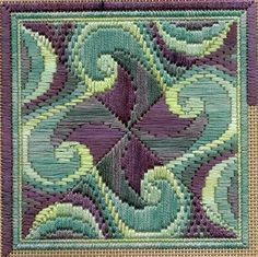 Freeform bargello – Marble Wave update, I'm REALLY crazy about this for pattern AND color!!!