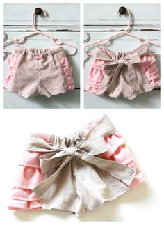 Ruffled baby bloomers, with free pattern and tutorial. Baby bloomer sewing pattern DIY :: Me Sew Crazy Sewing Kids Clothes, Baby Clothes Patterns, Sewing For Kids, Clothing Patterns, Free Baby Sewing Patterns, Dress Patterns, Coat Patterns, Barbie Clothes, Baby Bloomers Pattern