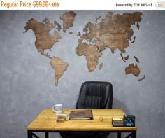 Office wall art travel lover gift wall world map wooden map of the fools day sale wooden world map large map of the world wall canvas print art traveler gumiabroncs Image collections